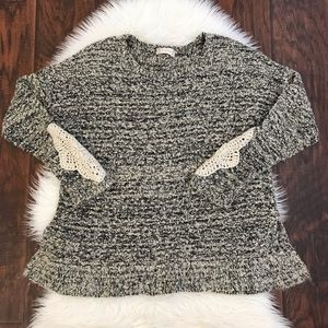 Altar'd State Marled Crewneck Swing Sweater